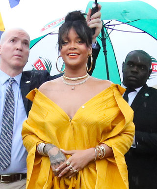 Rihanna Wows in Head-to-Toe Yellow at Her Street Sign Dedication Ceremony