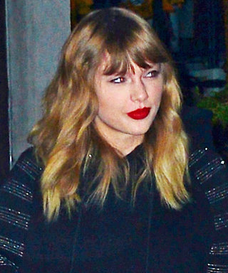 Taylor Swift Wore the Comfiest Going-Out Ensemble with Velvet Platforms