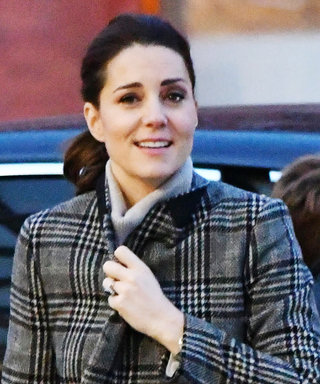 Pregnant Kate Middleton Covers Her Baby Bump in a Patterned Zara Coat