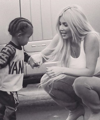 Little Saint West Steals the Show in Kim Kardashian's Christmas Photo