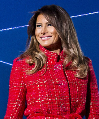 Melania Trump Lights the National Christmas Tree in a Red Chanel Coat