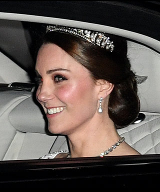 Pregnant Kate Middleton Paired Princess Diana's Favorite Tiara with a Bridal White Outfit