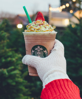 The Starbucks Christmas Tree Frappuccino Has Arrived and It's Holiday Cheer in a Cup