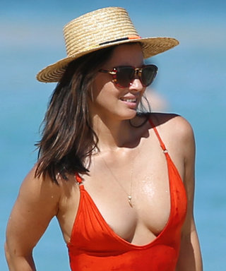 Olivia Munn Wore a Plunging Red Swimsuit on a Her Hawaiian Vacation