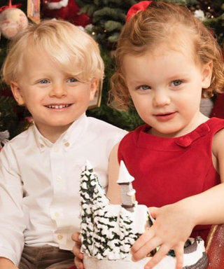 Monaco's 3-Year-Old Twin Prince and Princess Could Not Be Cuter in Their Family Christmas Card