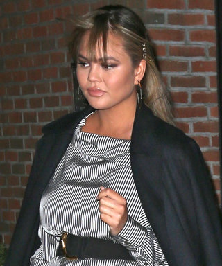 Pregnant Chrissy Teigen Shows Some Serious Leg While Out with John Legend