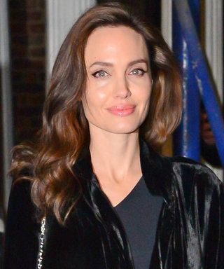 Angelina Jolie's Velvet Topper Will Give You Major Holiday Party Inspo