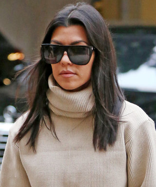 Kourtney Kardashian Wore a Cropped Sweater with the Track Pants You've Been Coveting