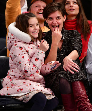 Katie Holmes and Suri Cruise Are an Adorable Duo at the Knicks Game