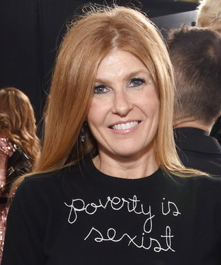"Connie Britton Wears ""Poverty Is Sexist"" Sweater to Golden Globes"