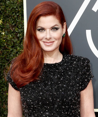 Debra Messing Calls Out E! for Gender Pay Gap on the Golden Globes Red Carpet