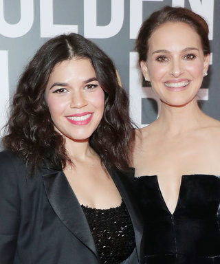 Natalie Portman and America Ferrera Were the Cutest Couple on the Golden Globes Red Carpet