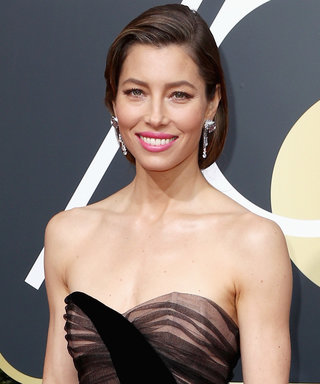 Jessica Biel Shut Down the Golden Globes Red Carpet in a Sheer Black Dress