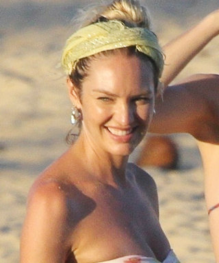 Pregnant Candice Swanepoel Hits the Beach in a Thong Bikini