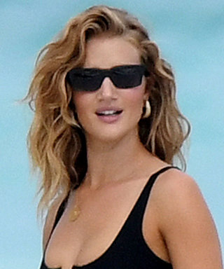 New Mom Rosie Huntington-Whitely Sizzles in a Black Lace-Up Bikini