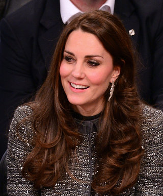 Kate Middleton Re-Wears a Tory Burch Tweed Coat for a Surprise Charity Visit