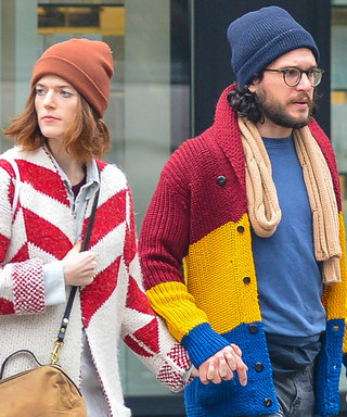 Kit Harington and Rose Leslie and Their Colorful Sweaters Are More Than Ready for Winter