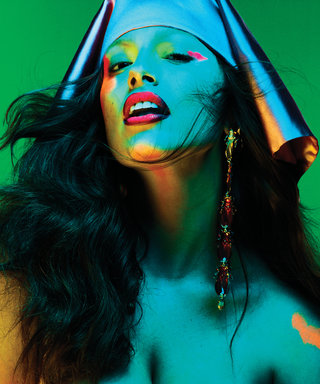 Ashley Graham Is Topless and Fierce in This Psychedelic Photo Shoot