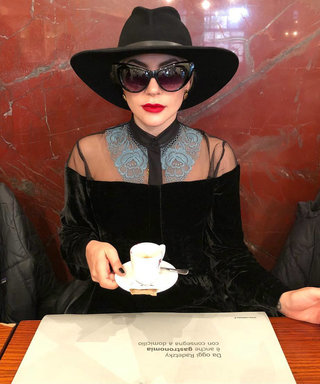 Lady Gaga Wore the Ultimate All-Black Street Style Look in Milan