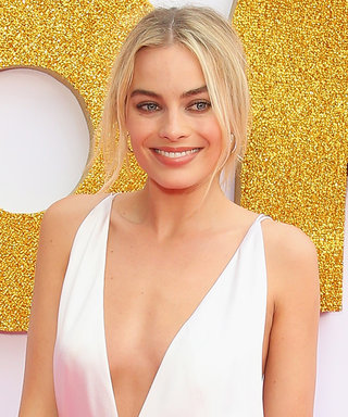 Margot Robbie Pulls a J.Lo in a Crazy Low-Cut Gown