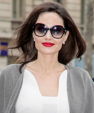 Angelina Jolie's Cape Coat Adds So Much Drama to Her Paris Look