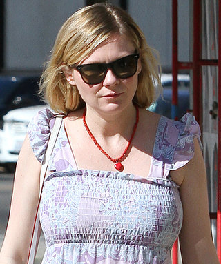 Pregnant Kirsten Dunst Keeps It Casual in Romantic Maxi Dress