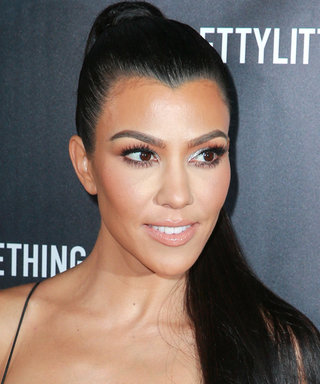 Here's Kourtney Kardashian Eating Pizza in a Totally Sheer Outfit