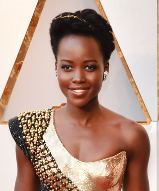 Lupita Nyong'o's Red Carpet Dress Is the Oscars Trophy in Couture Form