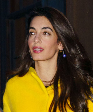 Amal Clooney Is Feeling Spring in a Canary Yellow Lanvin Coat