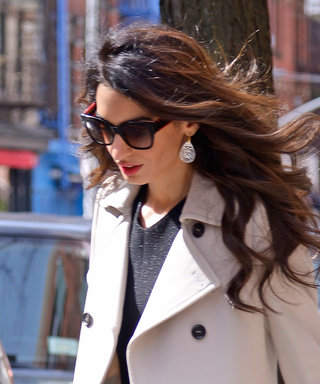 Amal Clooney Continues to Show Off Her Immensely Chic Coat Collection