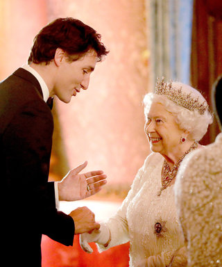 Queen Elizabeth Looks Like She's Fallen Under Justin Trudeau's Spell