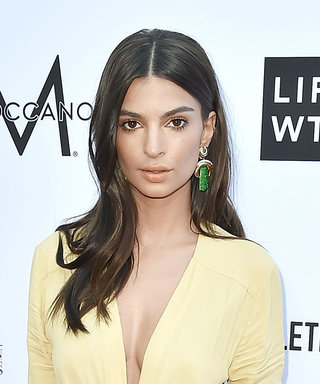 Newlywed Emily Ratajkowski Stuns in Plunging Yellow Gown