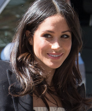 Meghan Markle Wears the Perfect White Dress 1 Month Ahead of Her Wedding Day