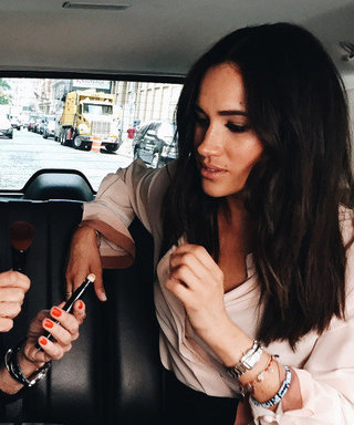 Watch Meghan Markle Do Her Own Makeup in the Back of an Uber (She's a Pro!)
