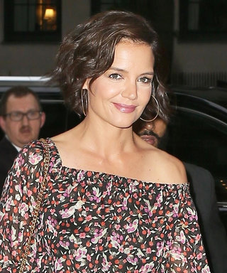 Katie Holmes Demos a Refreshing Way to Wear the Off-the-Shoulder Trend