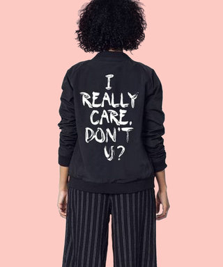 """This Brand Created an """"I Really Care"""" Jacket in Response to Melania Trump"""