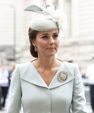 Kate Middleton's Pale Blue Alexander McQueen Dress Is a Carbon Copy of Her Royal Wedding Look