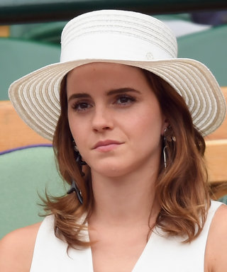 Emma Watson Channeled Meghan Markle at Wimbledon with Her White Culottes
