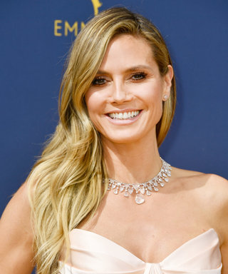 Heidi Klum Has the Best Method for Keeping Her Emmys Gown Wrinkle-Free