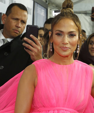 Jennifer Lopez's Hot Pink Gown Has a Train That Rivals Princess Diana's Wedding Dress