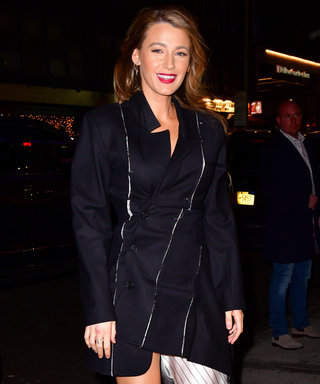 "Blake Lively Went ""Cinderella Chic"" in a Coat-Dress Hybrid"