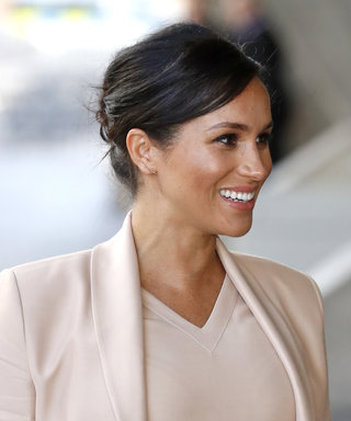 Meghan Markle Plays Up Her Pregnancy Glow in a Blush Brandon Maxwell Dress and Blazer