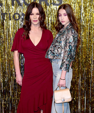 Catherine Zeta-Jones and Her Daughter Had Matching Mermaid Hair at the Michael Kors Show