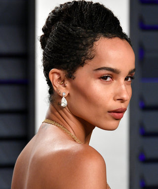 Zoë Kravitz Wore an 18k Gold Bra on the Red Carpet