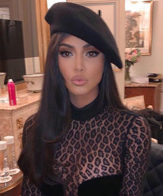 Kim Kardashian Continues Her Leopard Print Streak in a Fully Sheer Catsuit
