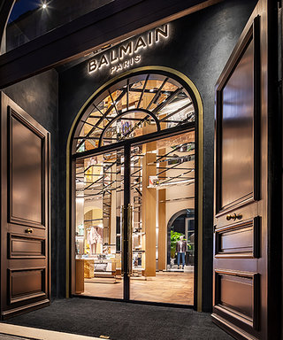 Inside Balmain's Extravagant New Boutique