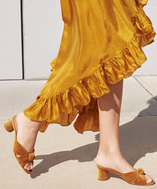 Can You Tell the Difference Between $40 Old Navy Slides and $350 Loeffler Randall Mules?