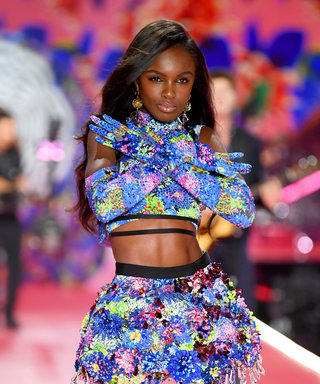 NEW YORK, NY - NOVEMBER 08:  Leomie Anderson walks the runway during the 2018 Victoria's Secret Fashion Show at Pier 94 on November 8, 2018 in New York City.  (Photo by Dimitrios Kambouris/Getty Images for Victoria's Secret)