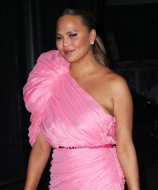 Chrissy Teigen Proves She's a Hot Mama in a Pink Mini Dress