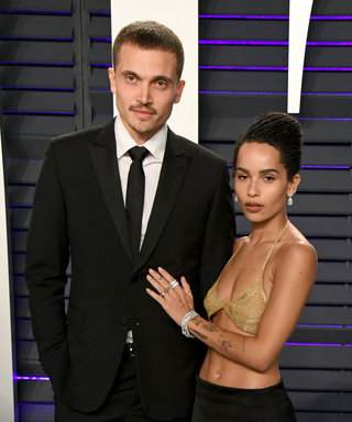 BEVERLY HILLS, CA - FEBRUARY 24:  (L-R) Karl Glusman and Zoe Kravitz attend the 2019 Vanity Fair Oscar Party hosted by Radhika Jones at Wallis Annenberg Center for the Performing Arts on February 24, 2019 in Beverly Hills, California.  (Photo by Jon...